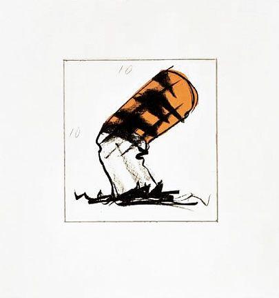 Lithographie Oldenburg - Butt For Gantt