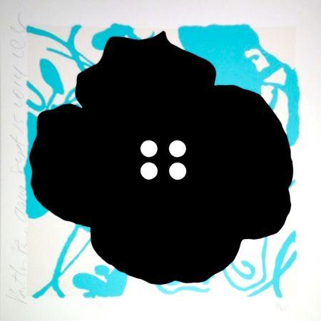 Sérigraphie Sultan - Button Flower Aqua