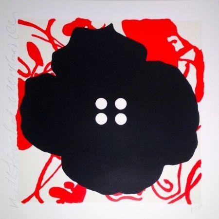 Sérigraphie Sultan - Button Flower Red