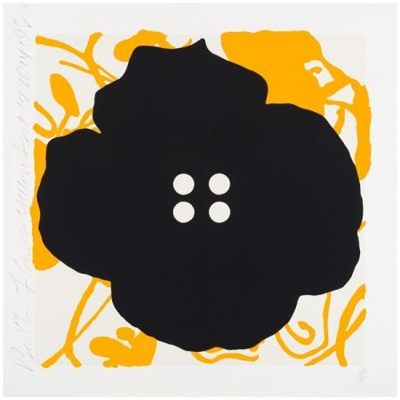 Sérigraphie Sultan - Button Flower Yellow