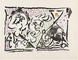 Lithographie Alechinsky - Buvard, 1964