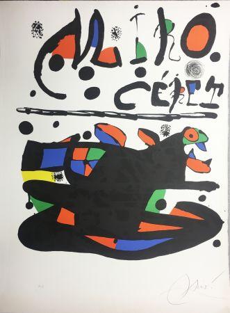 Lithographie Miró - CÉRET. Lithographie originale signée ( 1977).