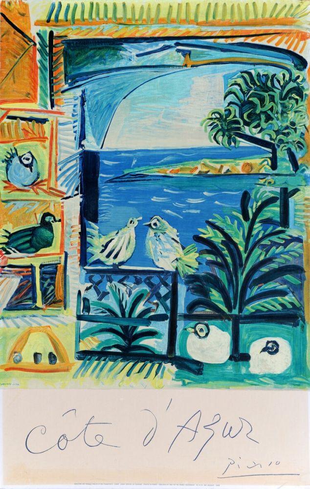 Affiche Picasso - Côte d'Azur