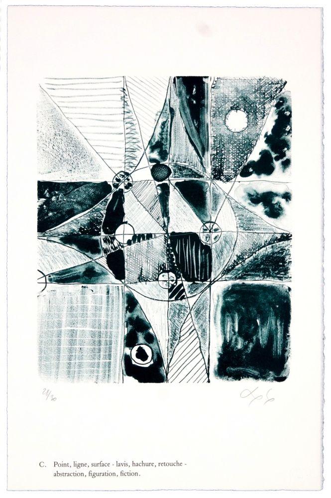 Lithographie Nørgaard - C. Point, ligne, surface - lavis, hachure, retouche - abstraction, figuration, fiction/