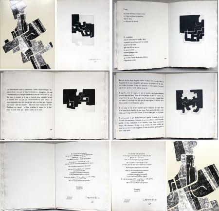 Livre Illustré Chillida -  C. Racine. LE SUJET EST LA CLAIRIÈRE DE SON CORPS. Poèmes. 4 eaux-fortes originales (1974)