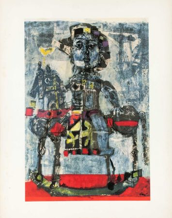 Lithographie Clavé - Caballero