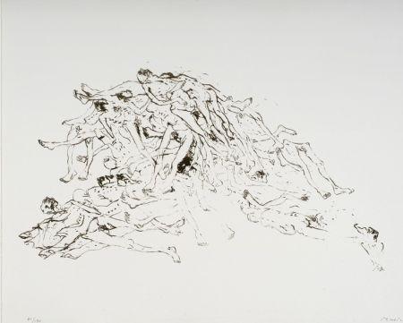 Lithographie Music - Cadastre de Cadavres