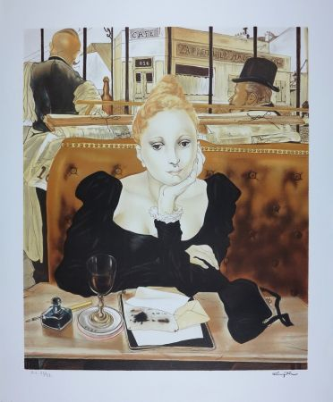 Lithographie Foujita - CAFE