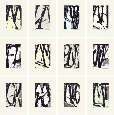 Sérigraphie Titus Carmel - Cairn - 12 sérigraphies