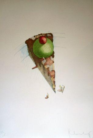 Lithographie Oldenburg - Cake