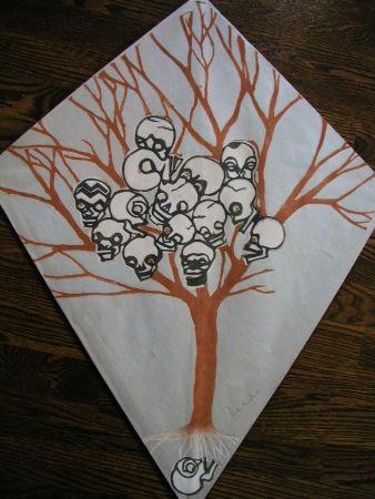 Sérigraphie Toledo - Calavera tree kite
