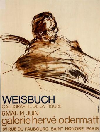 Lithographie Weisbuch - Calligraphie de la Figure