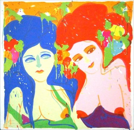 Lithographie Ting - Camille et Cecile