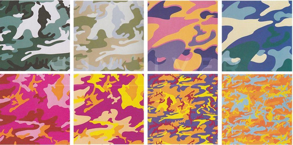 Sérigraphie Warhol - Camouflage, Complete Portfolio (FS II.406 through FS II.413)