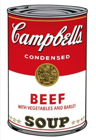 Sérigraphie Warhol - '' Campbell 's  Soup ''