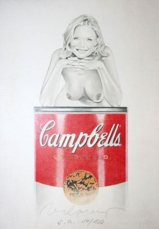Lithographie Ramos - Campbell soup