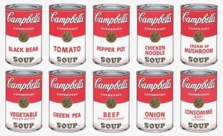 Sérigraphie Warhol (After) - Campbell soup 10 silkscreens