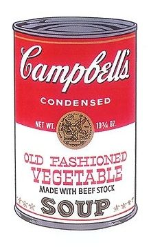 Sérigraphie Warhol - Campbell's Old fashioned Vegetable Soup