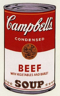 Sérigraphie Warhol (After) - Campbell's Soup- Beef- Sunday B Morning