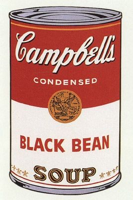Sérigraphie Warhol (After) -  Campbell's Soup- Black Bean- Sunday B Morning