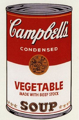 Sérigraphie Warhol (After) - Campbell's Soup- Vegetable- Sunday B Morning