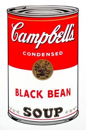 Sérigraphie Warhol (After) - Campbell's Soup - Black Bean