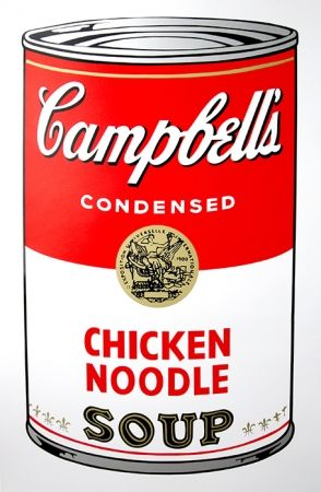 Sérigraphie Warhol (After) - Campbell's Soup - Chicken Noodle