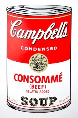 Sérigraphie Warhol (After) - Campbell's Soup - Consommé