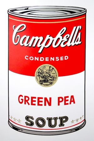 Sérigraphie Warhol (After) - Campbell's Soup - Green Pea
