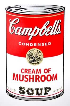 Sérigraphie Warhol (After) - Campbell's Soup - Mushroom