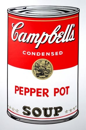 Sérigraphie Warhol (After) - Campbell's Soup - Pepper Pot