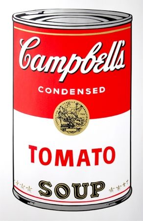 Sérigraphie Warhol (After) - Campbell's Soup - Tomato