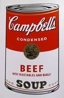 Sérigraphie Warhol (After) - Campbells soup beef