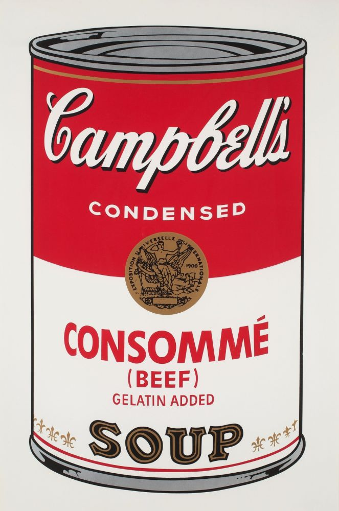 Sérigraphie Warhol - Campbell`s Soup (Beef Consommé)