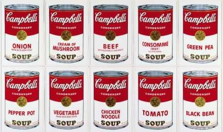 Sérigraphie Warhol (After) - Campbell´s Soup Can Set of 10