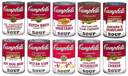 Sérigraphie Warhol (After) - Campbell´s Soup Can Set of 10 Serie 2