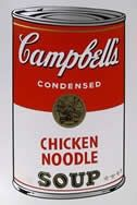 Sérigraphie Warhol (After) - Campbells soup chiken noodles