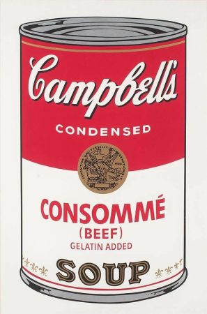 Sérigraphie Warhol - Campbell's Soup: Consommé (FS II.52)