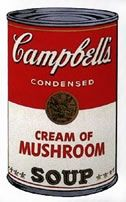Sérigraphie Warhol (After) - Campbells soup cream of mushroom