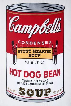 Sérigraphie Warhol - Campbell's Soup: Hot Dog Bean