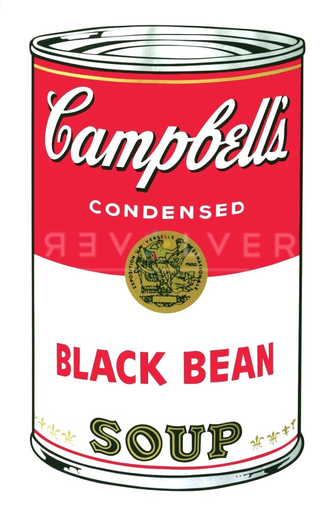 Sérigraphie Warhol - Campbell's Soup I: Black Bean (FS II.44)