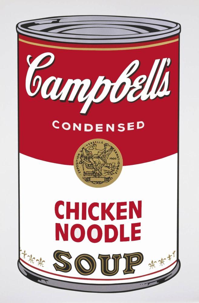 Aucune Technique Warhol - Campbell's Soup I: Chicken Noodle (FS II.45)