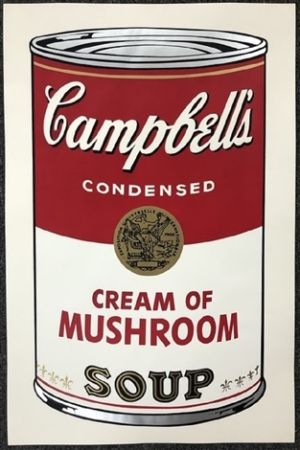 Multiple Warhol - Campbell's soup I: Cream of Mushroom