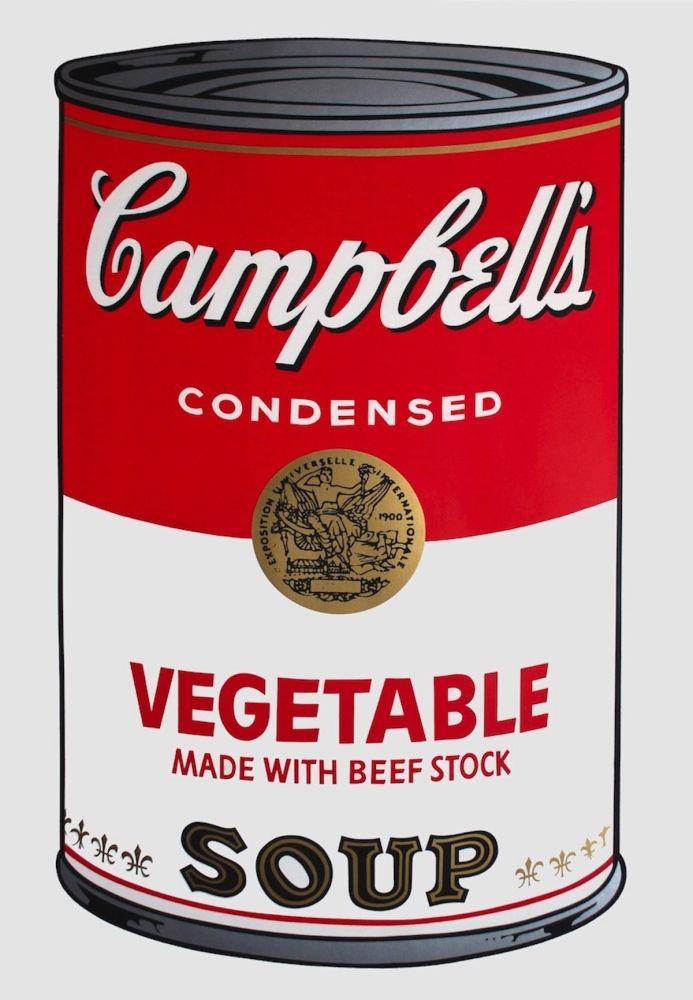Sérigraphie Warhol - Campbell's Soup I: Vegetable (FS II.48)