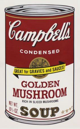 Sérigraphie Warhol - Campbell'S Soup Ii: Golden Mushroom (Fs Ii.62)