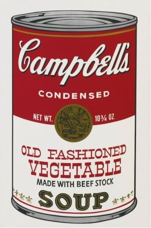 Sérigraphie Warhol - Campbell'S Soup Ii: Old Fashioned Vegetable (Fs Ii.54)