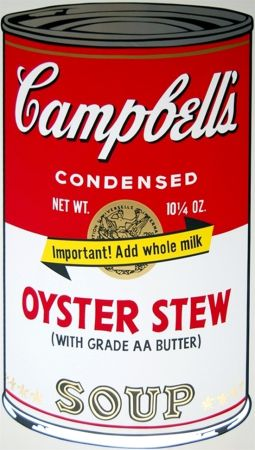 Sérigraphie Warhol - Campbell'S Soup Ii: Oyster Stew (Fs Ii.60)