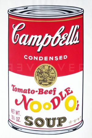 Sérigraphie Warhol - Campbell'S Soup Ii: Tomato Beef Noodle O'S (Fs Ii.61)