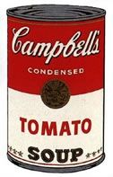 Sérigraphie Warhol - Campbells soup tomato