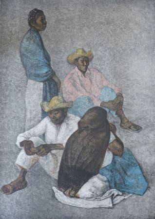 Lithographie Zuniga - Campesinos